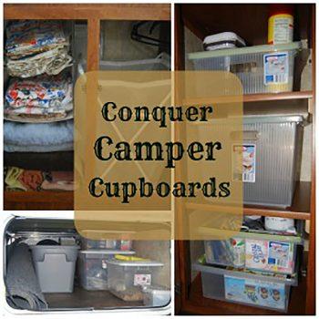 Conquering camper cupboards