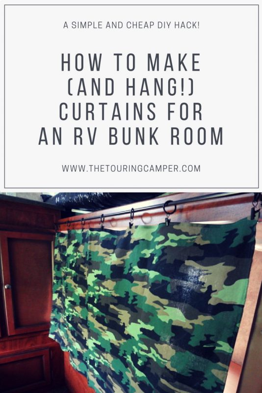 How to make camper bunk curtains