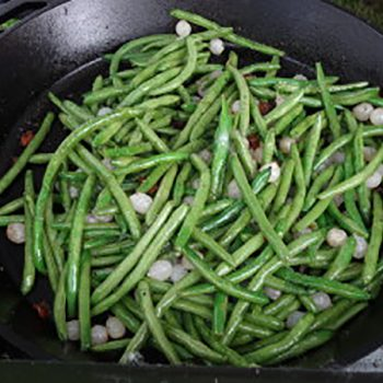 Camping Cacciatore & Sauteed Green Beans