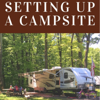 Camper-in-Training: Setting up a campsite
