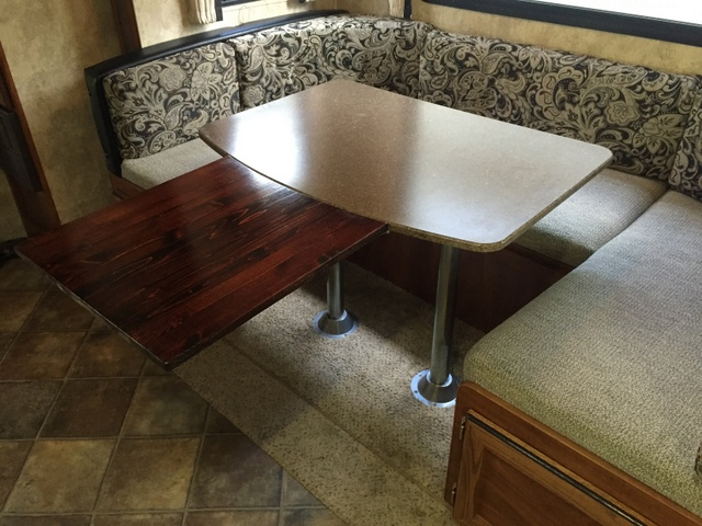 make room for more at your camper table rh thetouringcamper com rv dinette table legs rv dinette table hardware