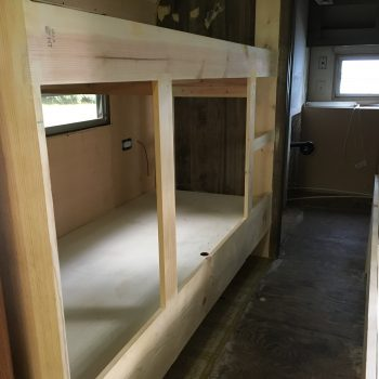 Building bunks for a vintage camper