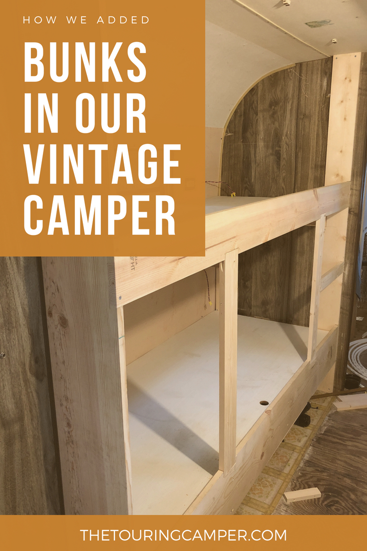 Building bunks for a vintage camper - The Touring Camper