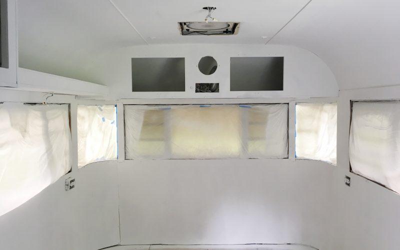 Painting a vintage camper–the DIY way